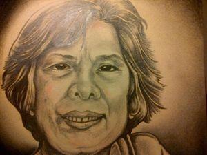 Old Lady Portrait by Lloyd B.