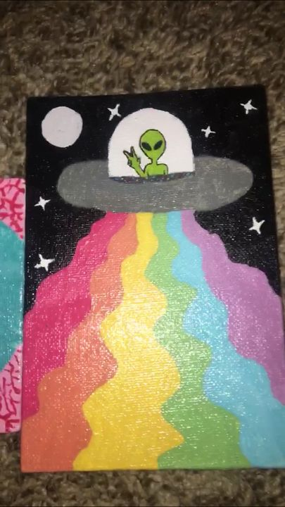 Peace, Love and Aliens - Art by Shannon Renee