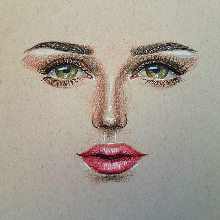 Green eyes - Artnya