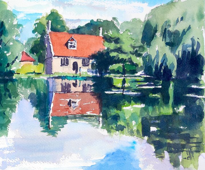Bourne Mill Colchester - Ibolya Taligas Watercolours