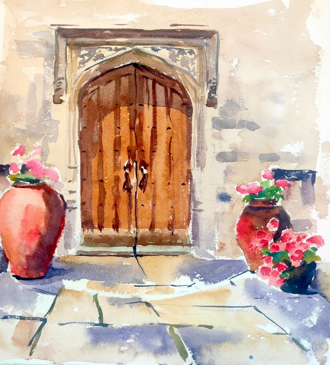 NORRIS MUSEUM ENTRANCE St Ives - Ibolya Taligas Watercolours