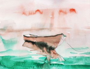 Tranquil Coast - Ibolya Taligas Watercolours