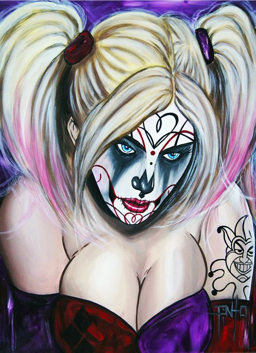 Day of the Dead Harley Quinn - Art of Pinto