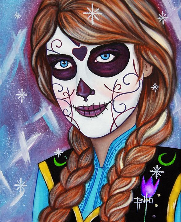 Day of the Dead Anna - Art of Pinto