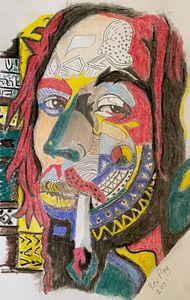 Abstract Bob marley