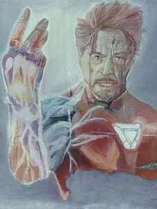 """Final Snap"" Iron Man Oil Painting"