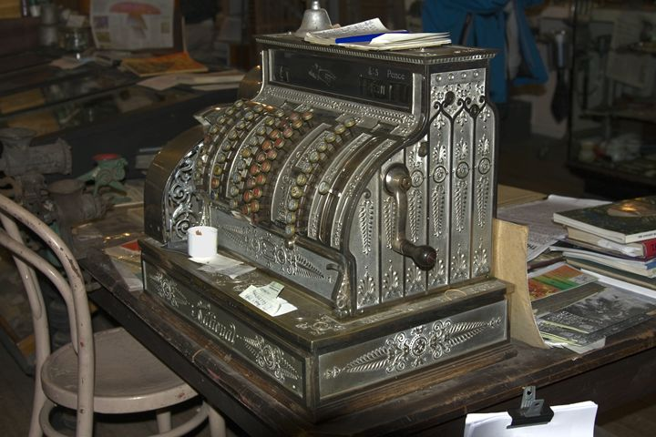 Antique Cash Register - Sally Weigand Images