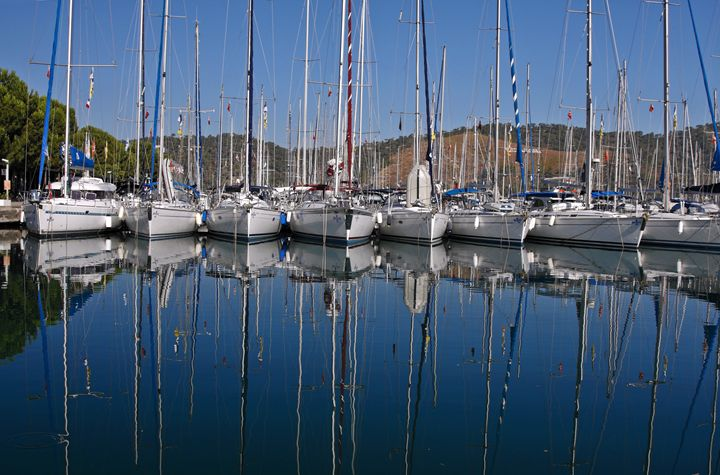 Sailboats Reflected - Sally Weigand Images