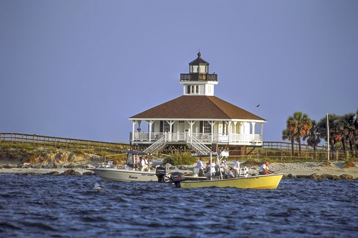 Fishing At Boca Grande Lighthouse - Sally Weigand Images