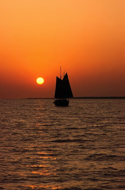 Sailboat and Sunset - Sally Weigand Images