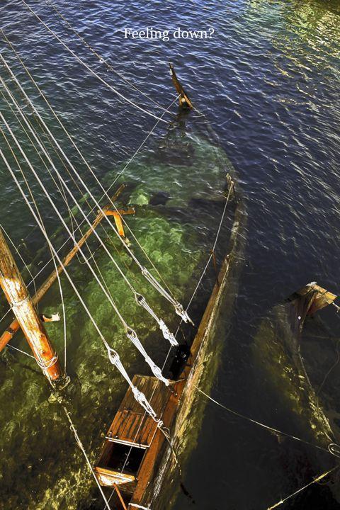 Sailboat Stern Underwater - Sally Weigand Images