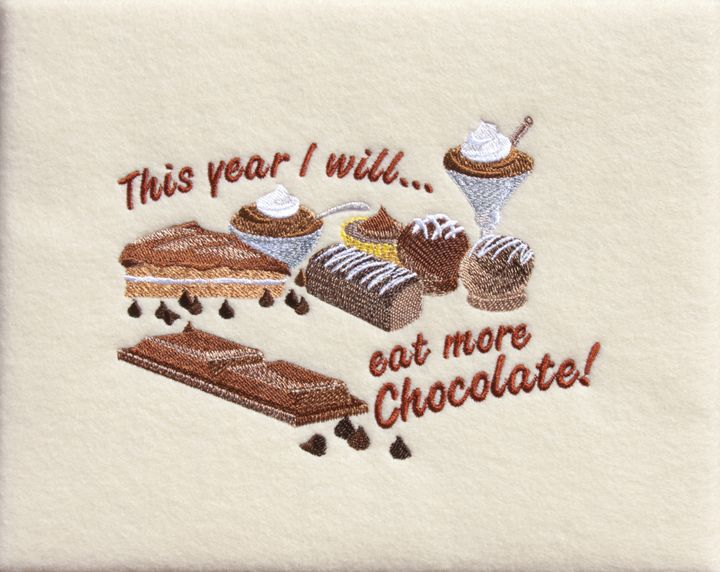 This Year I Will Eat More Chocolate - Sally Weigand Images