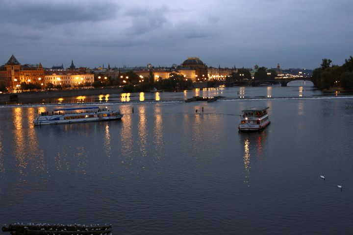 Evening Vltava River Scene - Sally Weigand Images