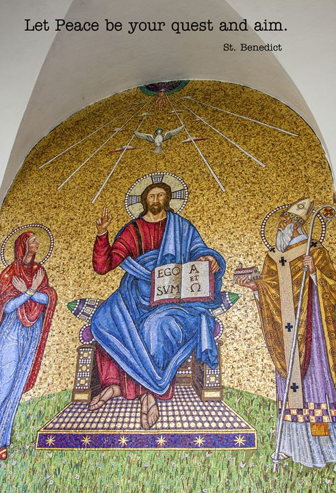 Jesus and Saints Mosaic - Sally Weigand Images