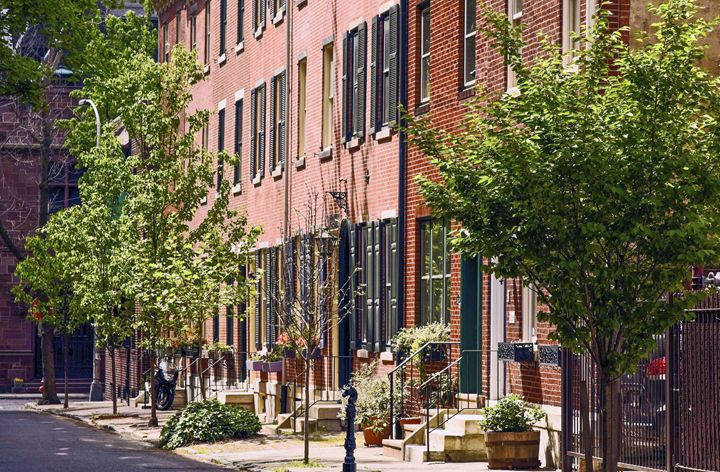 Colonial Philadelphia Street - Sally Weigand Images