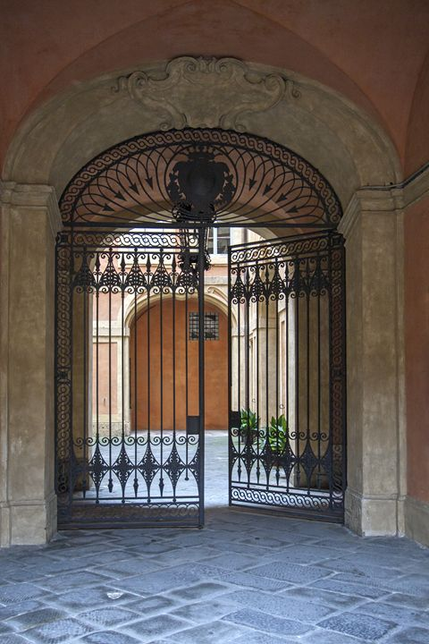 Decorative Wrought Iron Gate - Sally Weigand Images