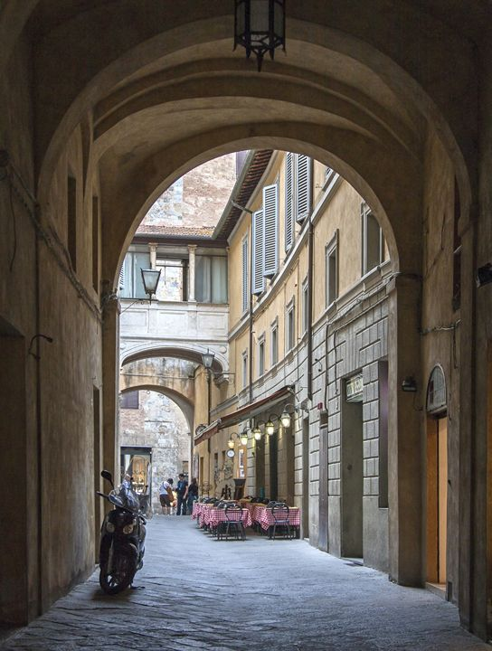 Narrow Sienna Street Scene - Sally Weigand Images