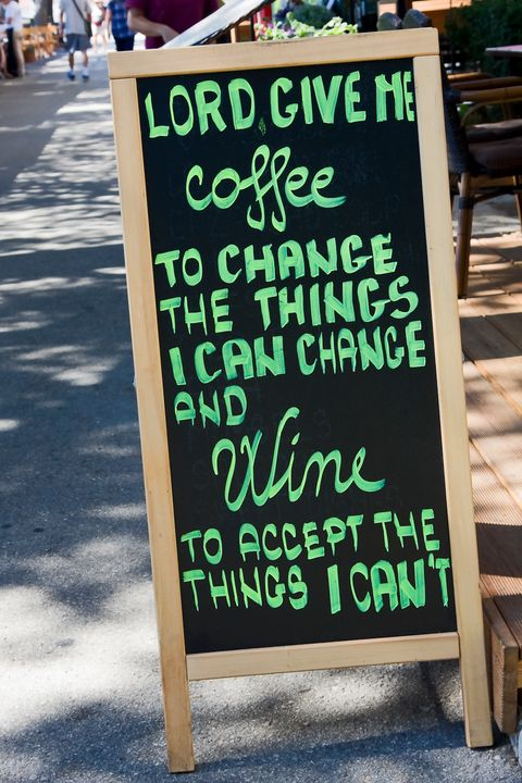 Coffee and Wine Saying - Sally Weigand Images