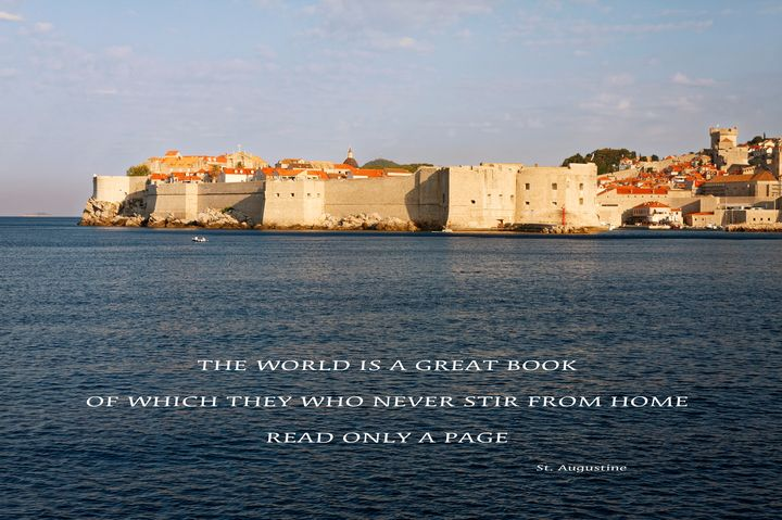 Old Town Dubrovnik and Saying - Sally Weigand Images