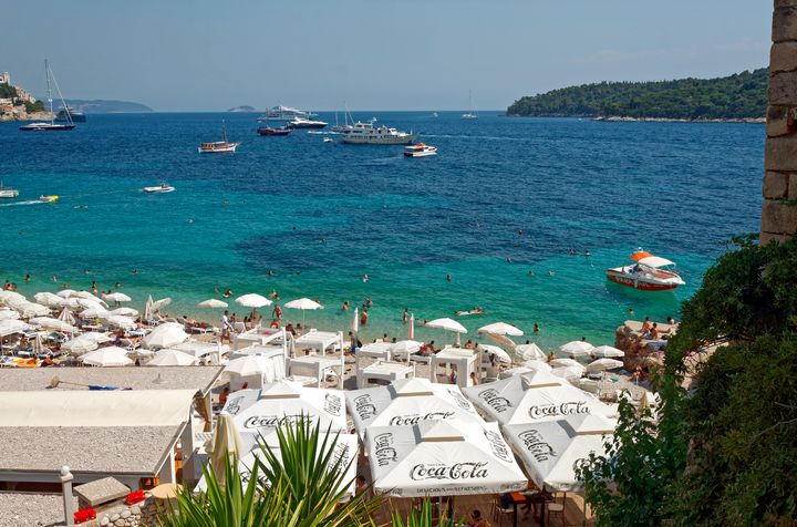Dubrovnik Beach and Boats - Sally Weigand Images