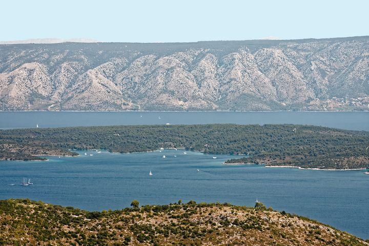 Hvar Harbor Overview - Sally Weigand Images
