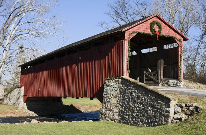 Poole Forge Covered Bridge - Sally Weigand Images