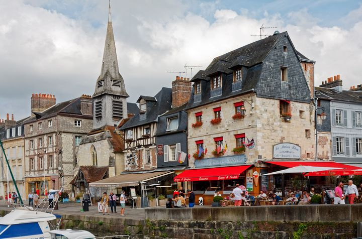 Honfleur City Scene - Sally Weigand Images