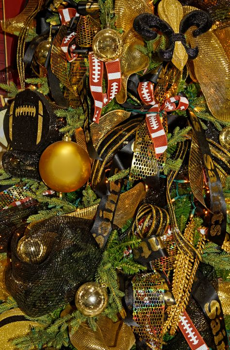 Football Christmas Tree - Sally Weigand Images