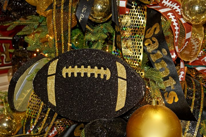 New Orleans Saints Christmas Tree - Sally Weigand Images