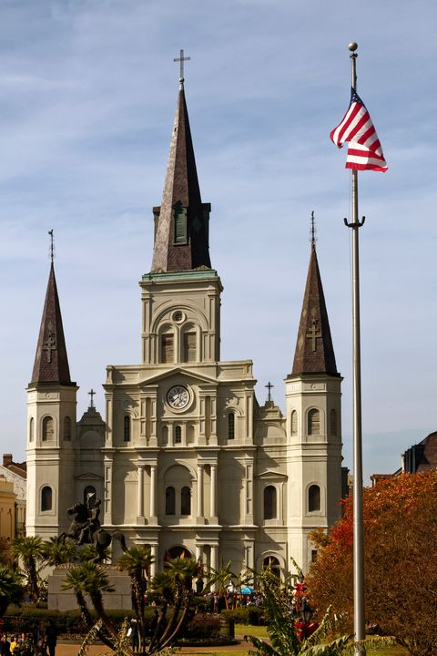 St. Louis Cathedral Jackson Square - Sally Weigand Images