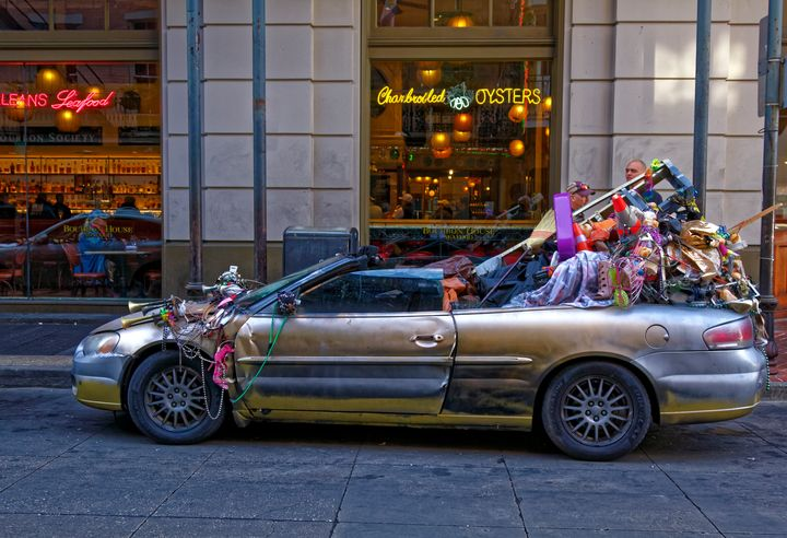 Convertible With Junk - Sally Weigand Images