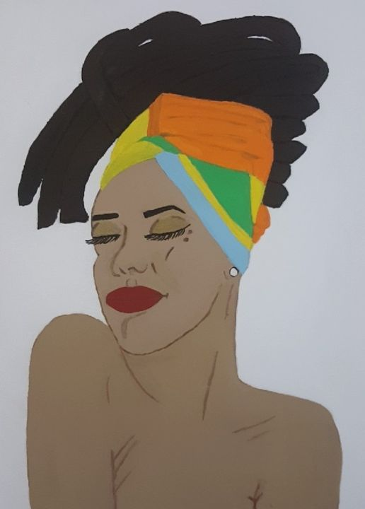 Black Queen Sophia - Chyna's Paintings