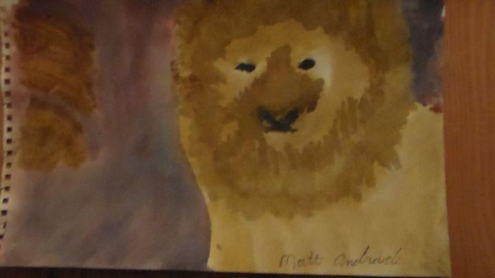 Lion with rocks - Matt Andrade