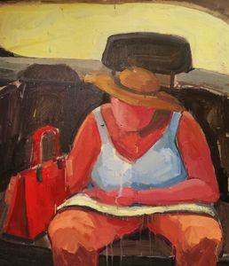 Melting summer, oil painting