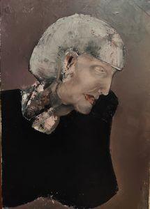 Black-dressed woman's portrait
