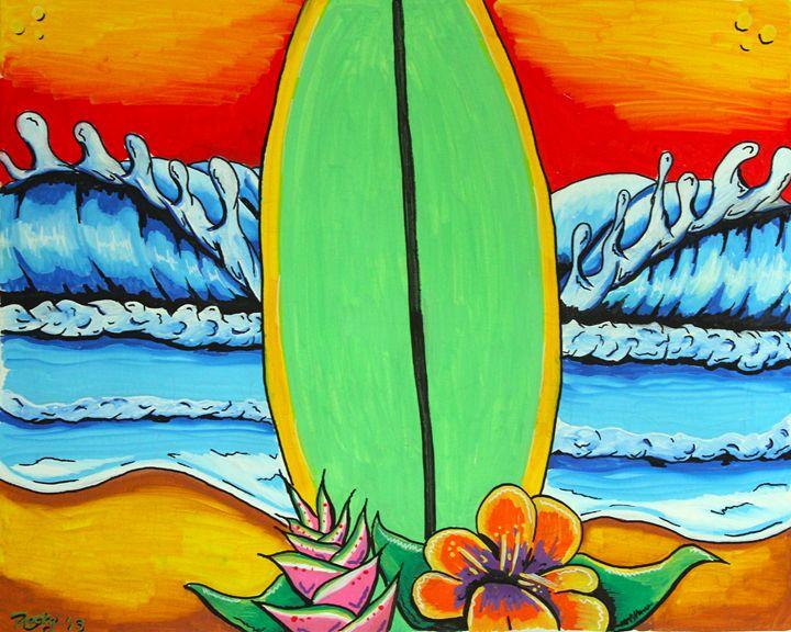 Board Wave - Rocky Rhoades' Surf Art