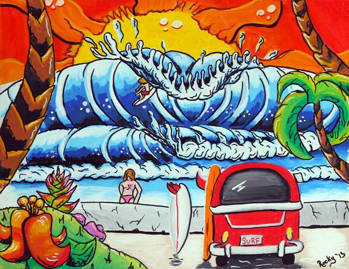 VW Van - Rocky Rhoades' Surf Art