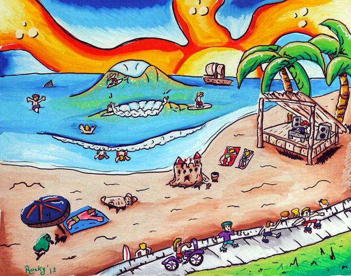 Virginia Beach - Rocky Rhoades' Surf Art