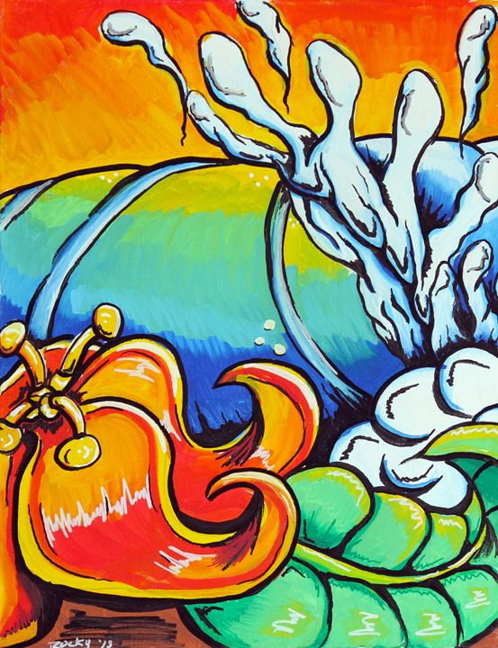 Flower Wave pt 1 - Rocky Rhoades' Surf Art
