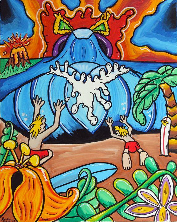Pray For Surf - Rocky Rhoades' Surf Art