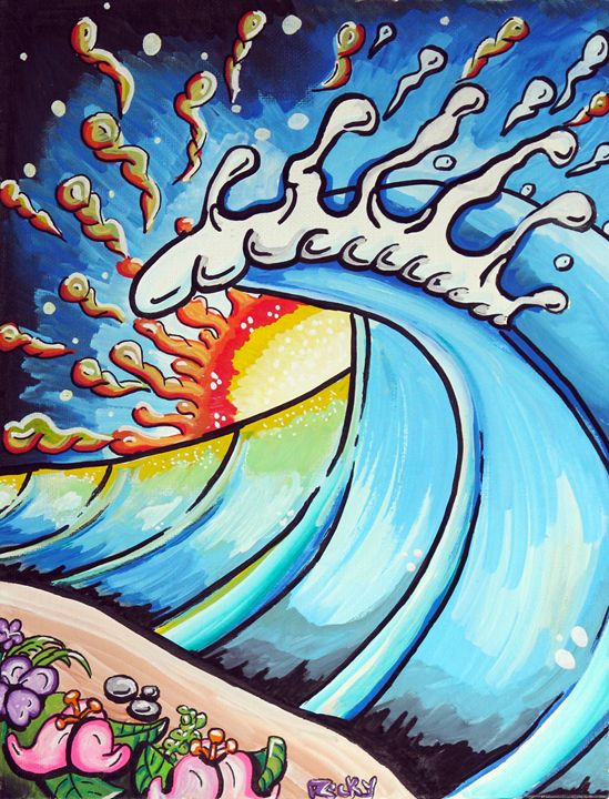Best Day Ever - Rocky Rhoades' Surf Art