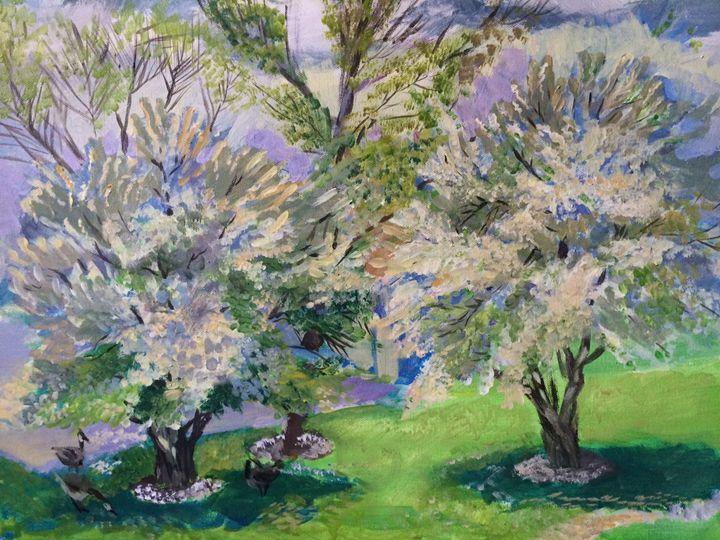 """""""Blooming trees"""" - Madina Satubalova"""