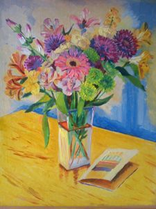 """Bouquet of Flowers"" 2010 16x20"""