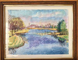 Lake Arlington, Watercolor