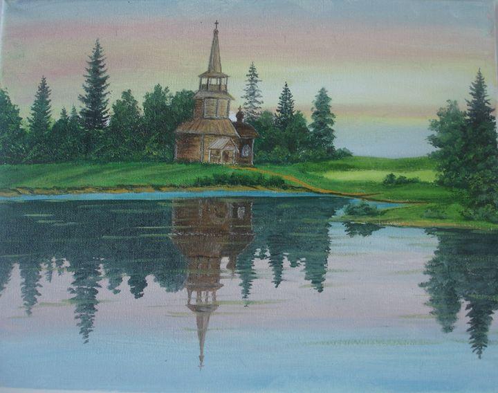 Sunset on the Lake - Natalie's Art