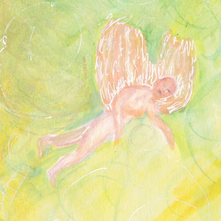 Chagall Inspired Angel - Art for God