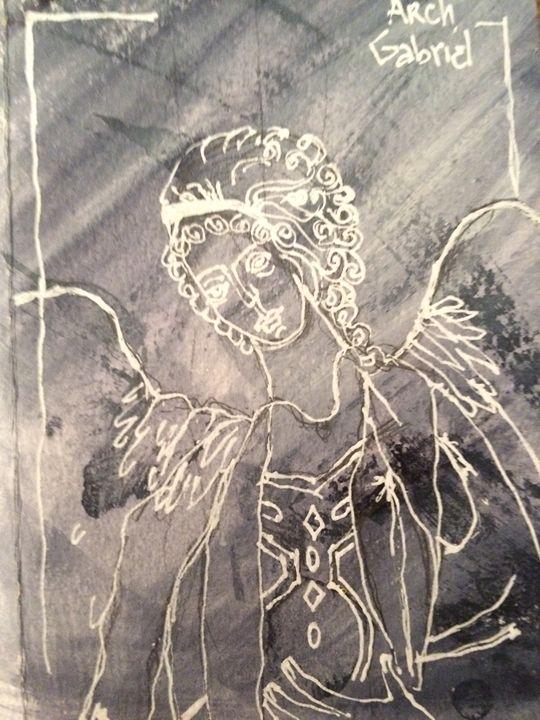 ARCHANGEL GABRIEL BLACK & WHITE - Art for God