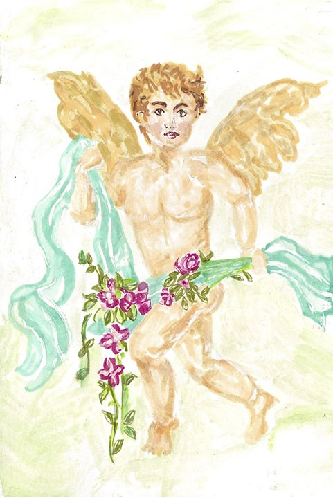 VALENTINE CUPID - Art for God