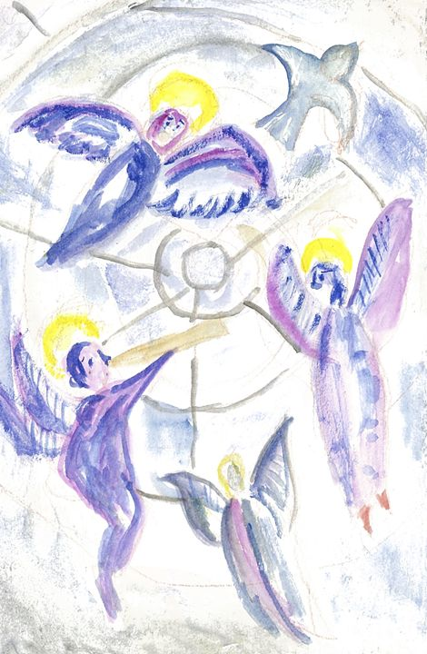 ANGELS ON STAINED GLASS - Art for God