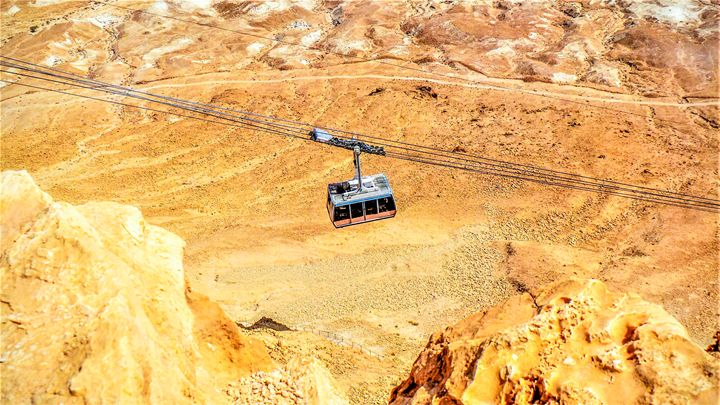 Cable Car To Massada - Jonathan M. Schwartzman